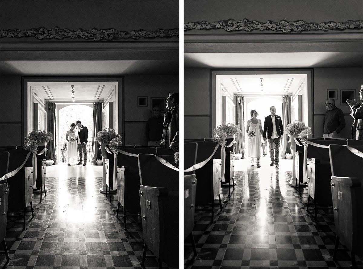 L'ingresso degli sposi