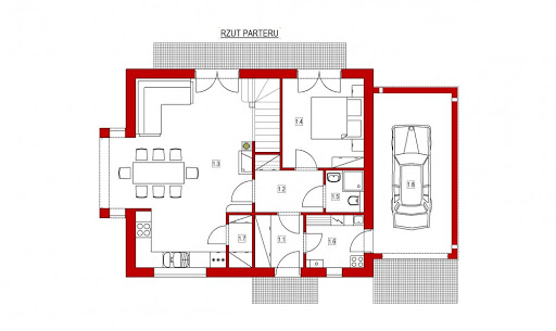 Domek Na Miodowej - Rzut parteru