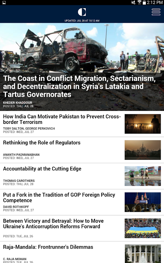 Carnegie Endowment- screenshot