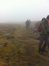 Photo: Foggy conditions on the Comeragh Plateau on Owen Ryan's Nire loop, Sunday March 9th, 2014.  2 of 2