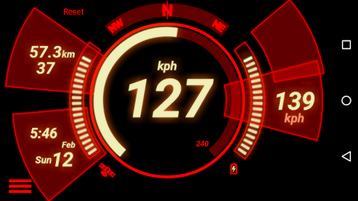 GPS Speedometer (No Ads) screenshot 1