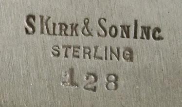 Photo: http://www.RareSterling.com RareSterlng.com - S. Kirk and Son Maker Marks, Sterling