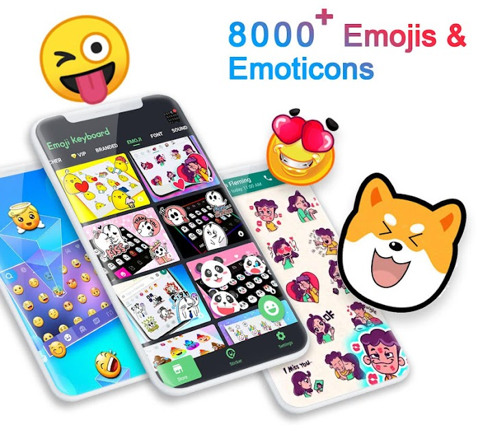 ❤️Emoji keyboard - Cute Emoticons, GIF, Stickers Android App Screenshot