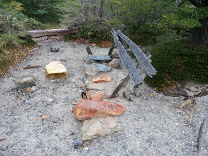 Photo: Bench at Patagonia, near Cerro Torre