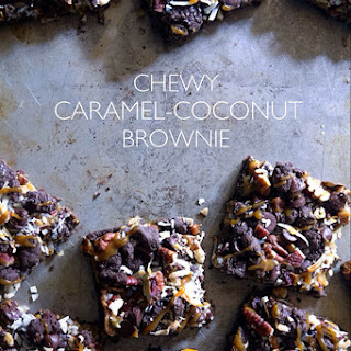 Chewy Caramel-Coconut Brownies