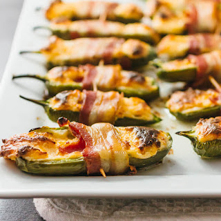 Bacon Wrapped Jalapeño Peppers Stuffed With Cream Cheese.