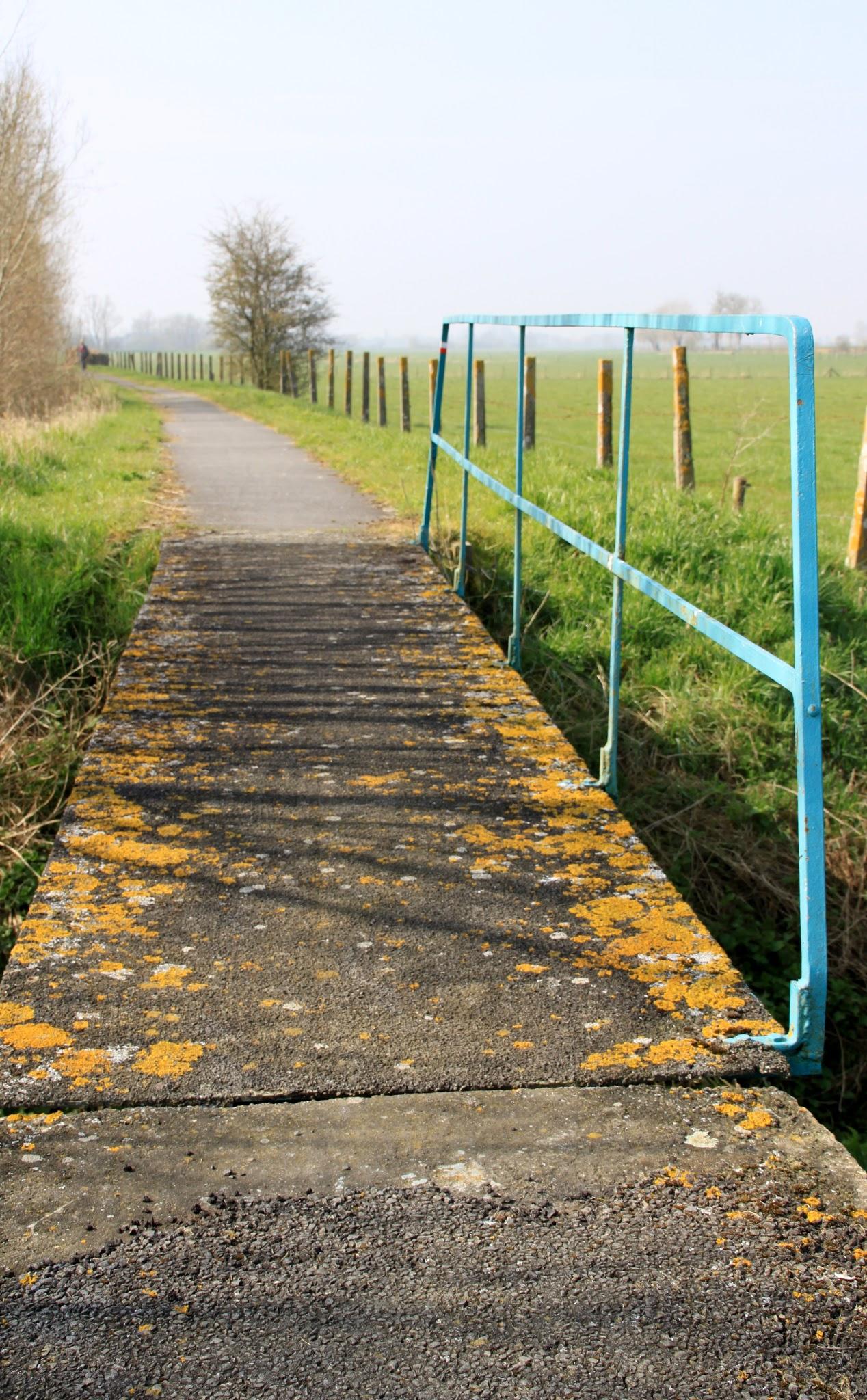 Photo: Een van de vele oude bruggetjes langs het voetpad langs de Ijzer.