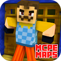 MCPE MAPS For Scary Horror Neighbor Mod icon