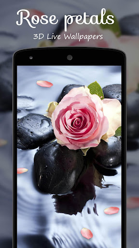 장미 꽃잎 3D 라이브 배경 화면|玩個人化App免費|玩APPs
