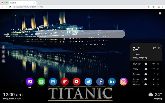 Titanic Popular Movies HD New Tabs Themes