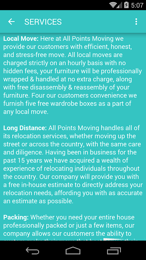 AllPoints Moving & Storage Inc- screenshot