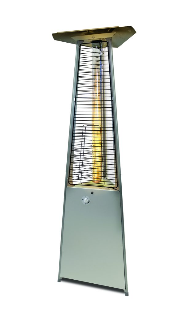 Falo Evo gas heater, available from Mobelli Furniture + Living.
