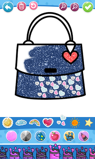 Glitter Beauty Accessories Coloring and drawing  Wallpaper 16