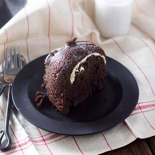 Chocolate Cream Cheese Filled Bundt Cake.