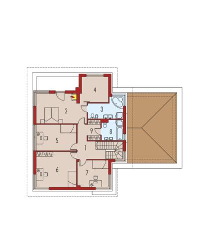 Diego II G2 - Rzut piętra