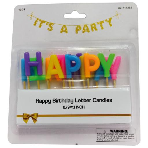 velas its a party letras 13und