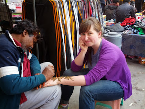 Photo: Henna in a side alley in Karol Bagh.