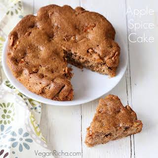 Vegan Spiced Apple Cake with Salted Caramel.