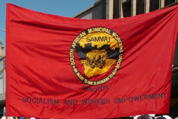 "Disgruntled ""former members"" of the South African Municipal Workers Union (Samwu) on Monday disrupted a Cosatu central executive committee meeting. Picture: ROBERT BOTHA"