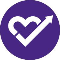 Simplified Heart Check Arrow Illustration