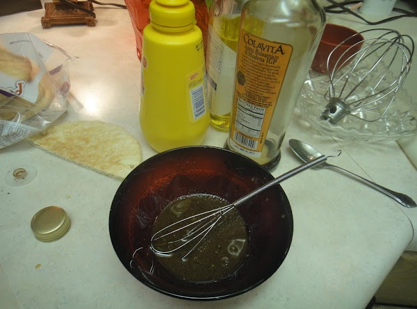 Add mustard, oil, water, and vinger  to make a vinegarette in a bowl...