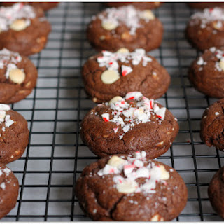 White Chip Chocolate Cookies with Peppermint