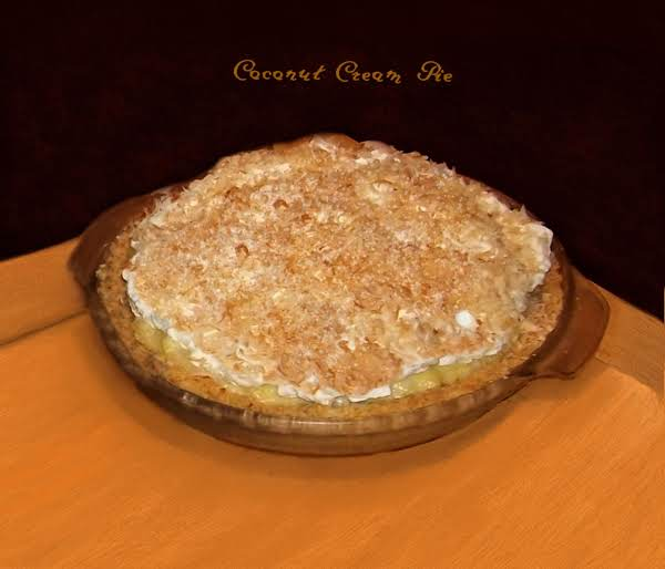 Coconut Cream Pie with sugar-free Vanilla Pudding