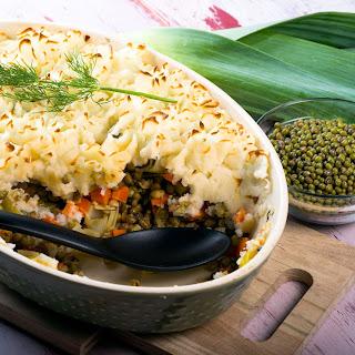 Mung Bean Potato Casserole