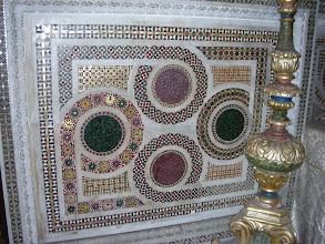 Photo: Palermo, normannipalatsin Capella Palatina, sivualttarin kosmaattinen etulevy.