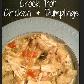 The Best Crock Pot Chicken and Dumplings.