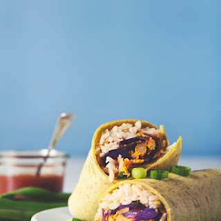 Vegan Freezer Burritos.