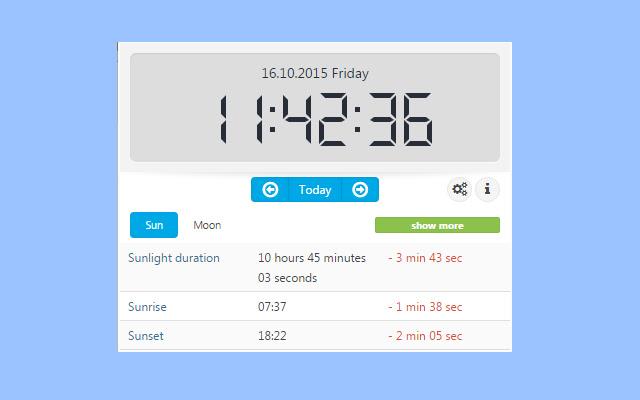 Sun & moon times extension