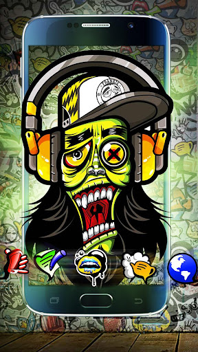 Graffiti Music Skull Theme screenshots 1