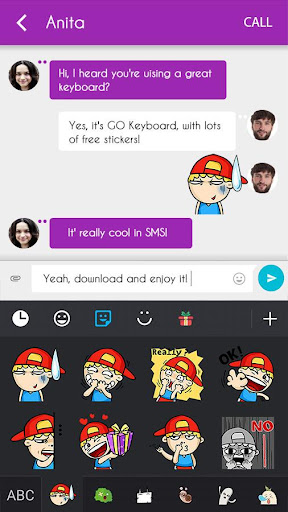 GO Keyboard Sticker Funny Boy|玩個人化App免費|玩APPs