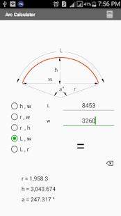 kalkulačku oblouku - náhled