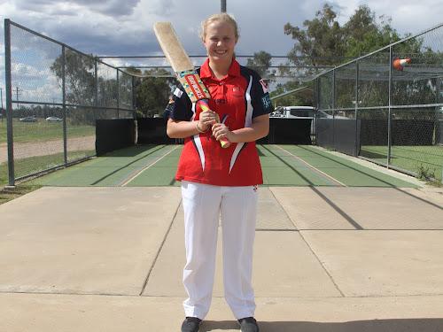 Narrabri cricketing talent Alyssa Ford at the Cooma Oval nets.