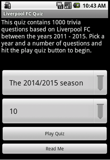 Quiz about Liverpool FC