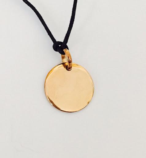 bracelet médaille plaqué or