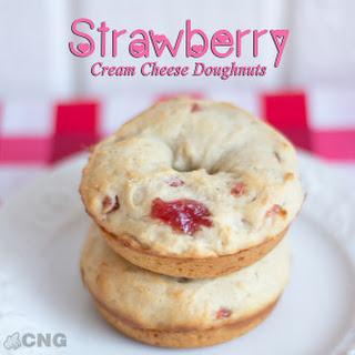 Strawberry Cream Cheese Doughnuts