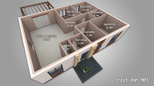 Dom gotowy MP1 - Rzut parteru