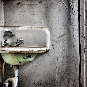 Sink by Shaun Schlager - Buildings & Architecture Architectural Detail ( id, lost, urban decay, worley, sink, forgotten, abandoned )