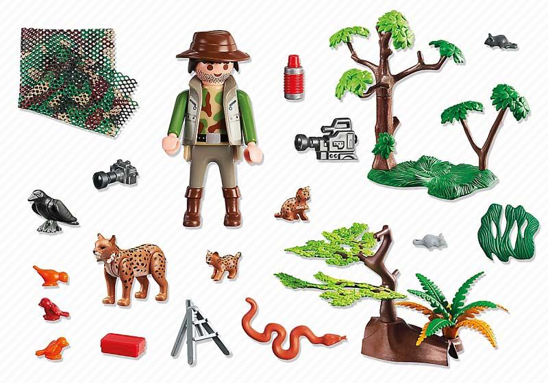 Contenido Real de Playmobil® 5561 Familia de Linces con Fotógrafo