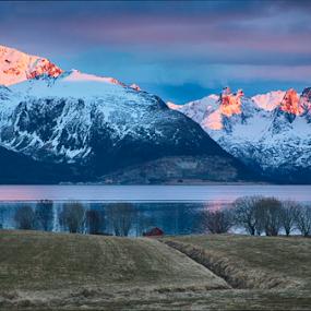 Magic afternoon by Yvonne Reinholdtsen - Landscapes Sunsets & Sunrises ( mountain, afternoon, blue hour, sunset, sea, spring, norway )