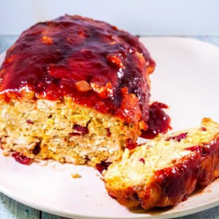Thanksgiving Meatloaf With Cranberry Balsamic Glaze