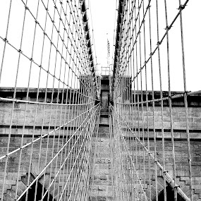 BROOKLYN BRIDGE NYC by Jamie Auletta - Buildings & Architecture Bridges & Suspended Structures ( shapes geometric patterns ,  )
