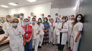 Profesionales del Área de Farmacia del Hospital de Poniente.