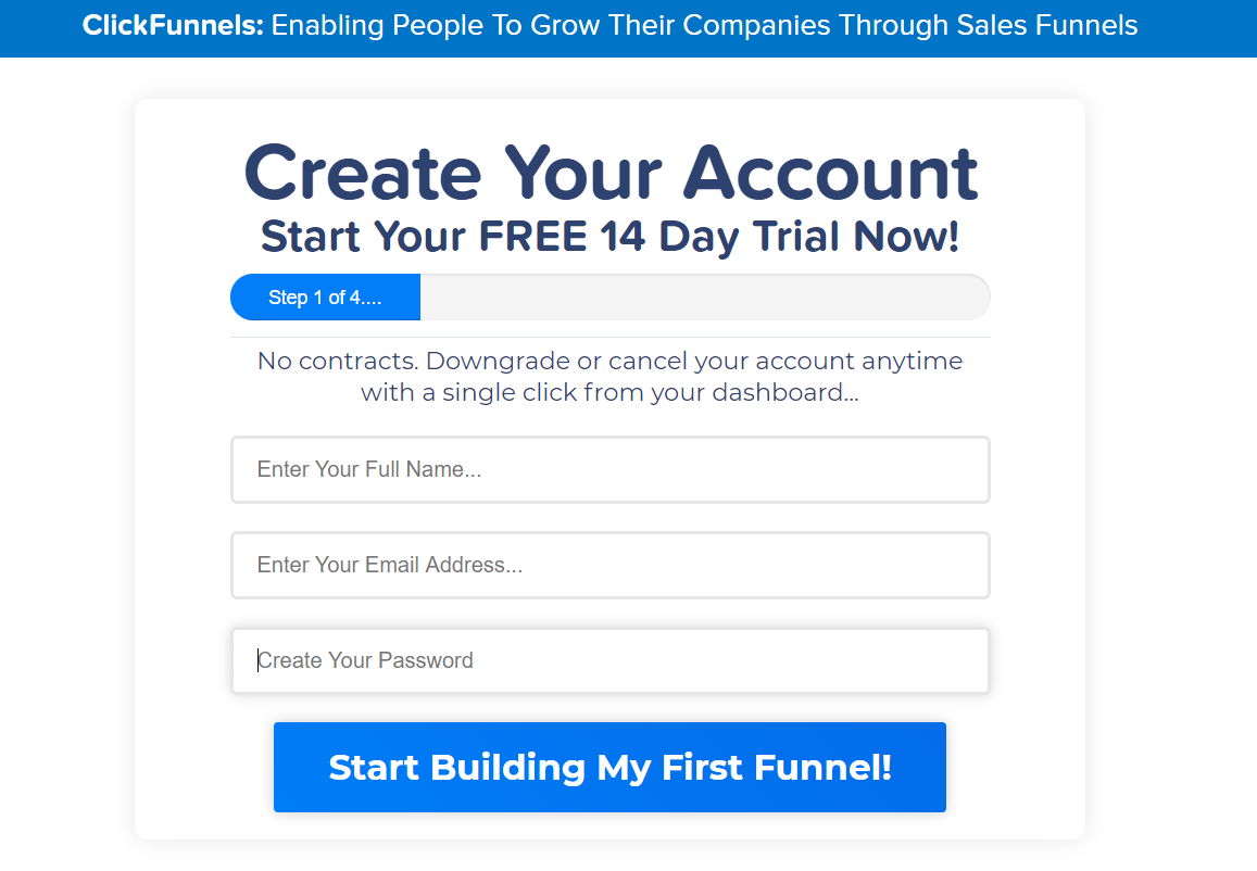 A Clickfunnels dashboard is part of the Clickfunnels 14 - Day Free Trial article