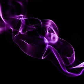 by Lubelter Voy - Abstract Fine Art ( fantasy, purple, tranparent, white, translucent, black, smoke )