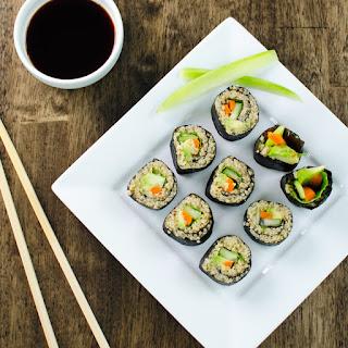 Veggie Quinoa Sushi Rolls.