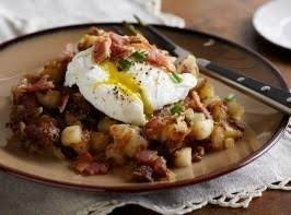 Fried Potatoes With Poached Eggs Recipe